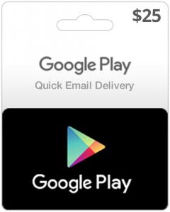 Google Play Gift voucher (USA)-$25