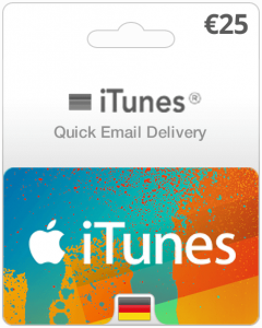iTunes Gift card (Germany)-€25